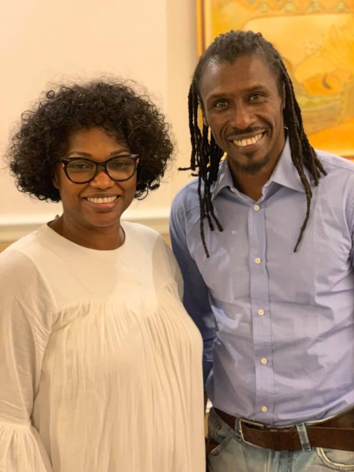 PHOTOS - Quand Aliou Cissé et El Hadj Diouf se retrouvent chez le milliardaire Babacar Ngom