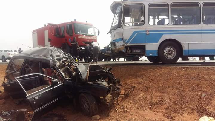 Fatick: 7 morts dans une collision entre un bus et un véhicule 4X4