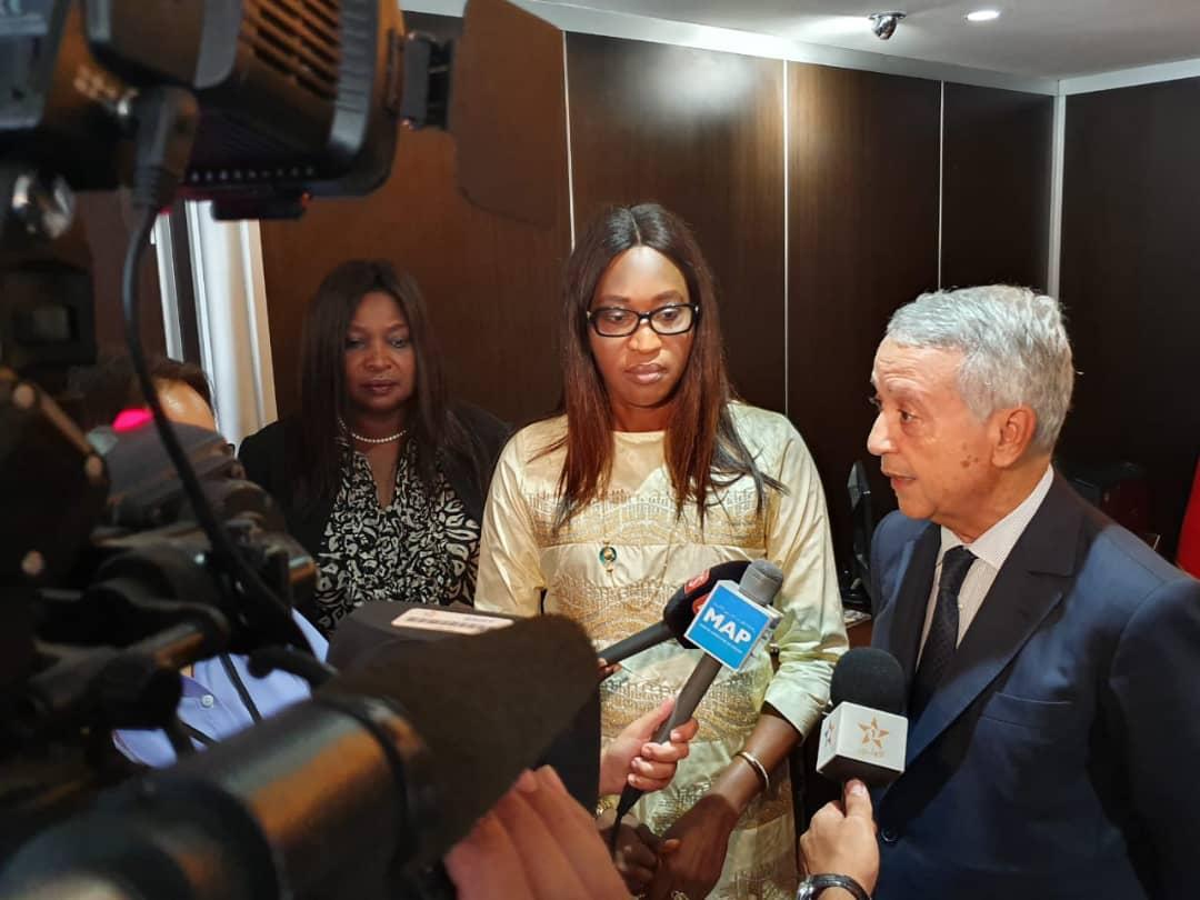 Visite officielle de Mme le Ministre de la Microfinance et de l'Economie sociale et solidaire au Maroc : Zahra Iyane Thiam et son homologue Marocain s'engagent pour promouvoir le développement de l'Economie sociale et solidaire. (IMAGES)