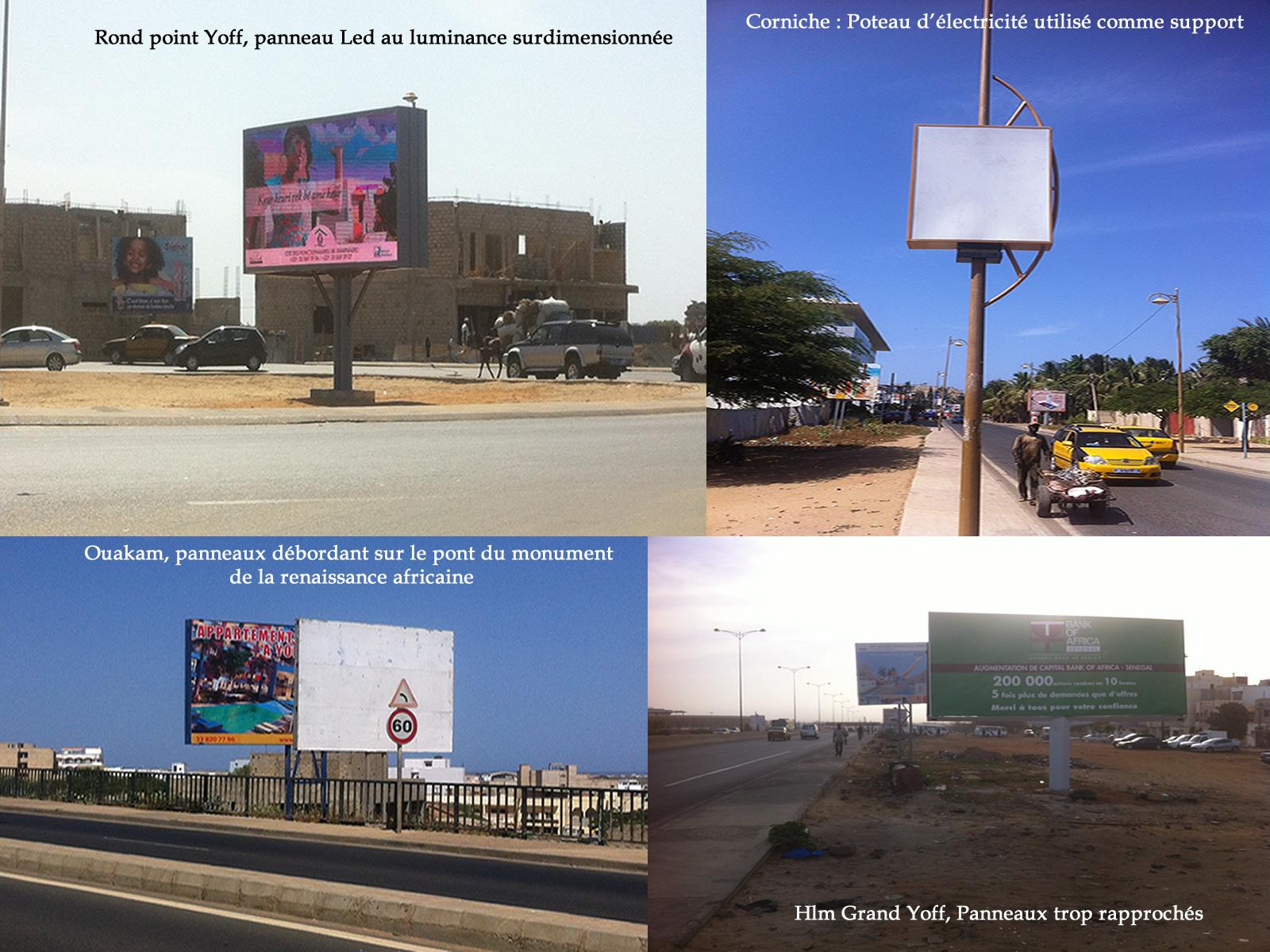 01COM GROUPE - Location de 100 panneaux publicitaires partout à Dakar