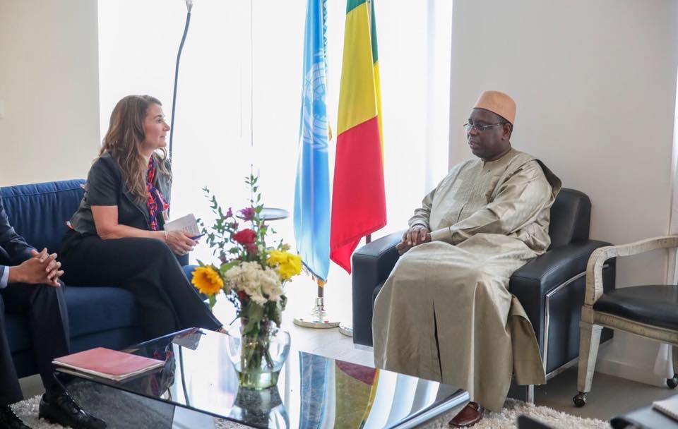 New-York : Macky Sall reçoit en audience Melinda Gates