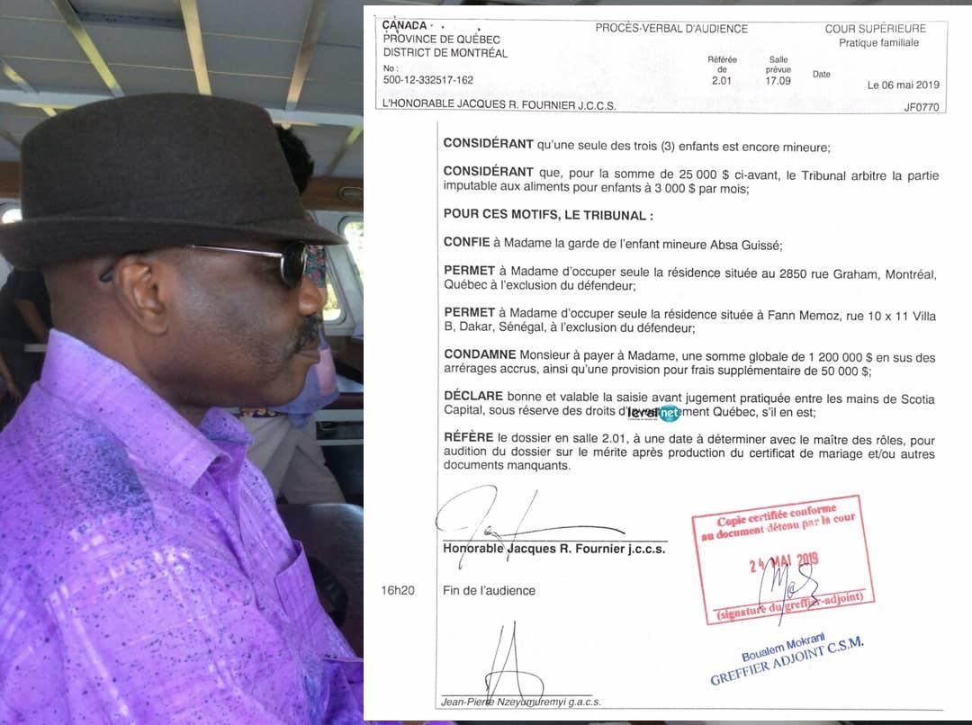 Divorcé au Canada avec sa première dame, Ndèye Maguette Mar Guissé : L'homme d'affaires, Mansour Guissé dans ses travers… traque les biens de sa femme à Dakar