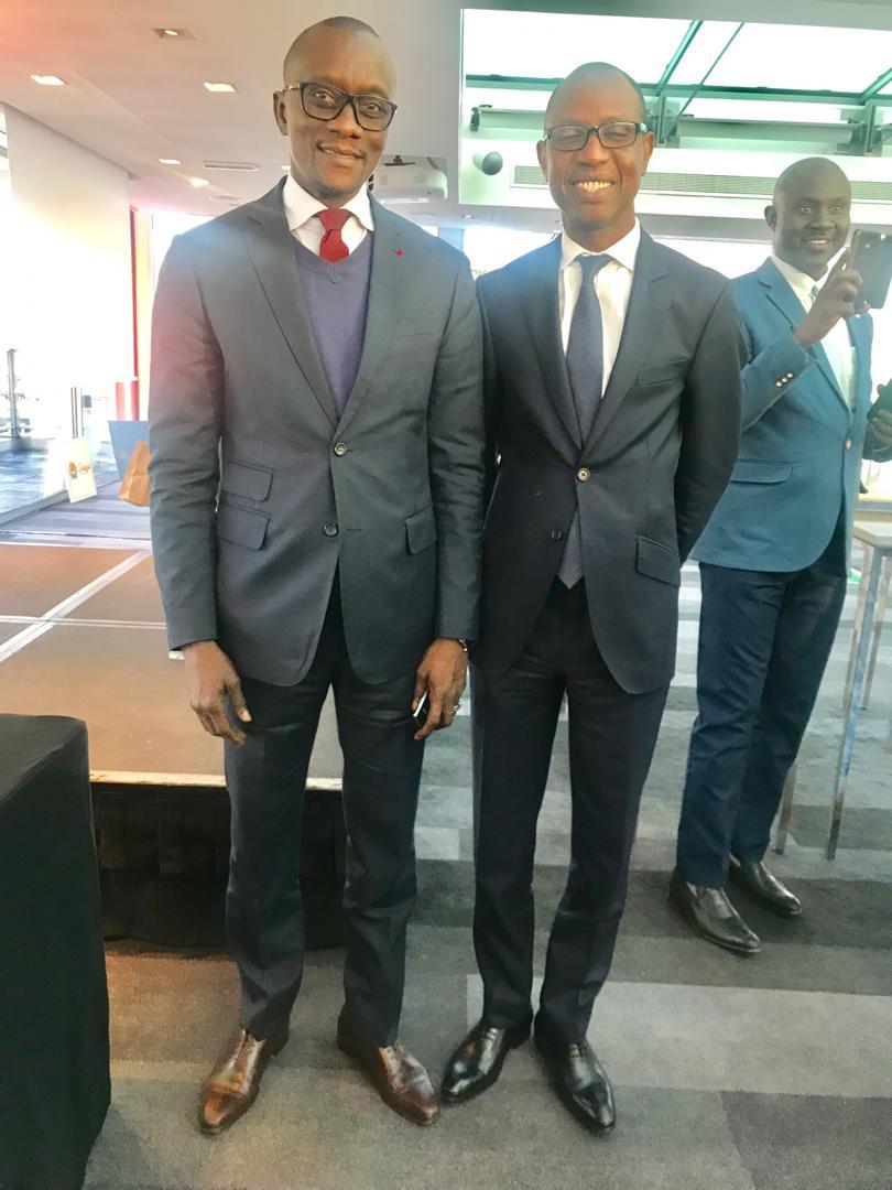 L'ambassadeur El Hadji Magatte Seye et le Consul Amadou Diallo au salon du Tourisme Paris 2019