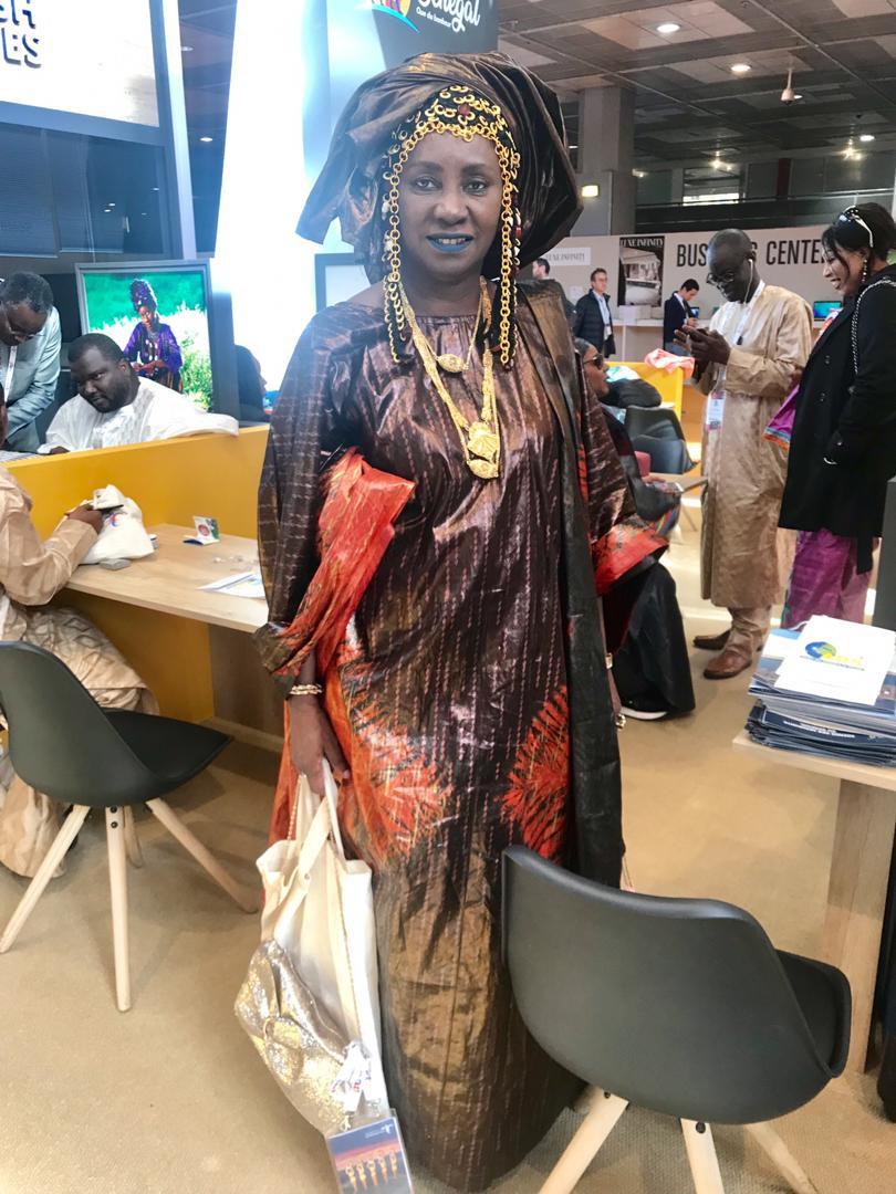 La costumiere Oumou Sy au salon du Tourisme IFTM Top Resa Paris 2019.