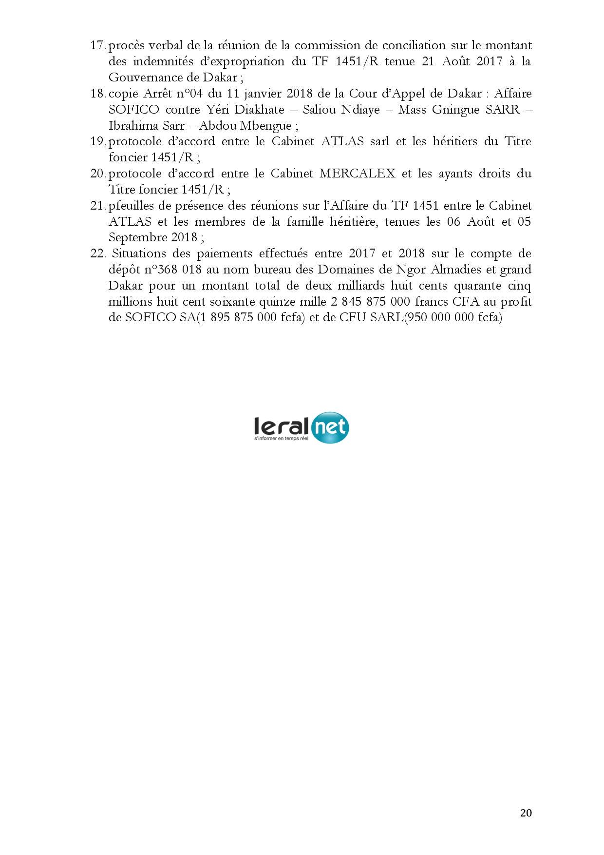 Voici le résumé du rapport de la Commission d'enquête portant sur l'affaire des 94 milliards