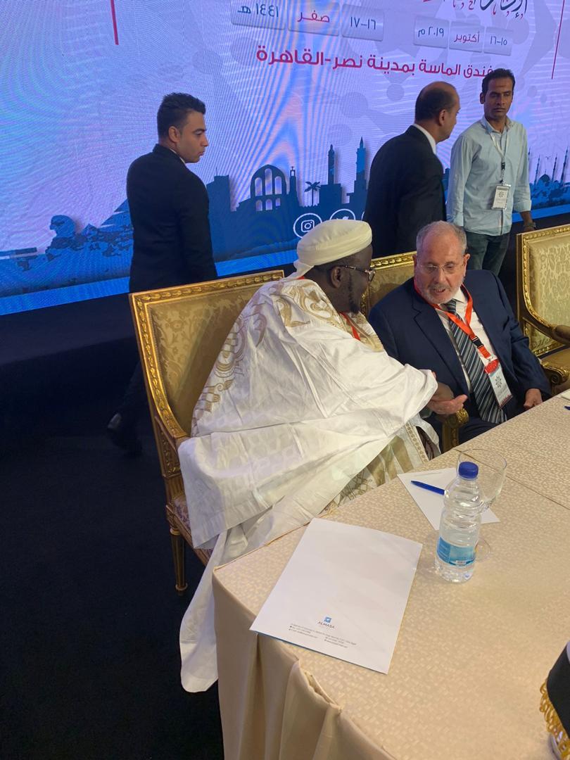 (Photos): Serigne Mansour Niass lors d'une conférence internationale