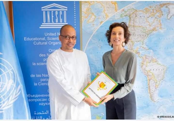 UNESCO: Le journaliste-diplomate, Souleymane Jules Diop a présenté ses lettres de créance