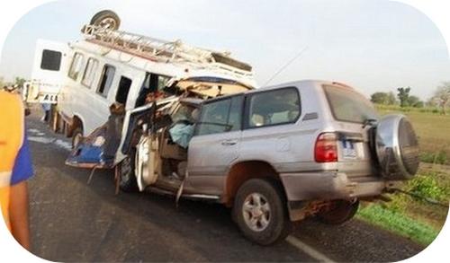 Koumpentoum: 4 morts et 31 blessés dans un accident de la route