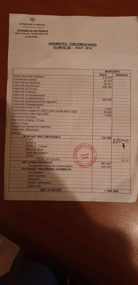 Impôt des députés: Interpellé par un compatriote, Mamadou Diop Decroix détaille tout, preuves à l'appui