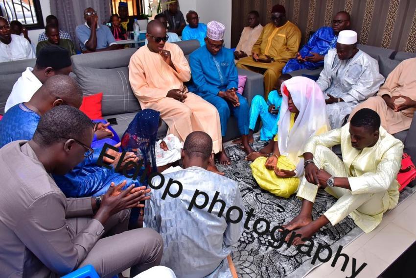 """PHOTOS - Baptême: Bouba Diop """"Soulagé"""",homme de confiance de Wally Seck papa pour la deuxième fois !"""