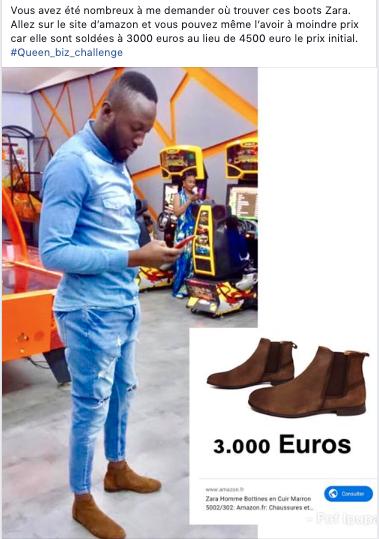 Chaussures à 475 000 FCfa, Queen Biz déclenche un challenge qui affole la toile