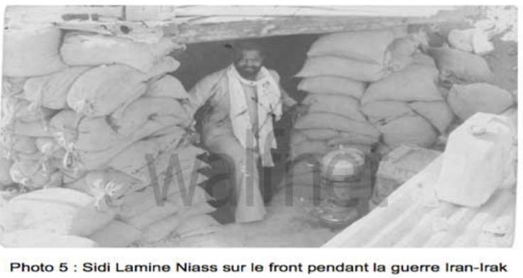 Photo inédite : Sidy Lamine Niasse sur la ligne de front pendant la guerre Iran-Irak