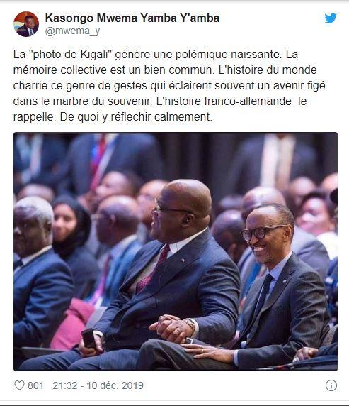 Une photo de Félix Tshisekedi et Paul Kagame fait polémique en RDC