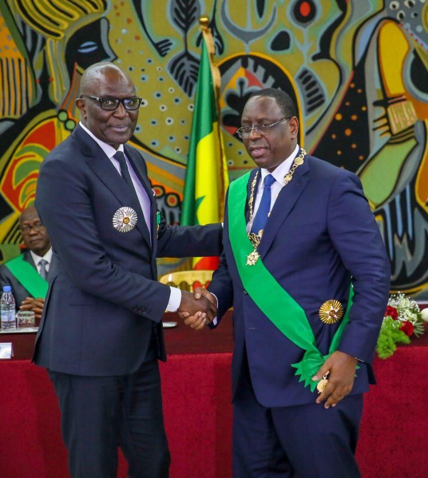 Photos: l'homme d'affaires Babacar Ngom élevé au rang de Grand Officier de l'Ordre National du Lion