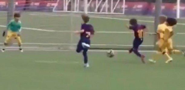 A 7 ans, Thiago, le fils de Messi, inscrit son premier but pour le Barça