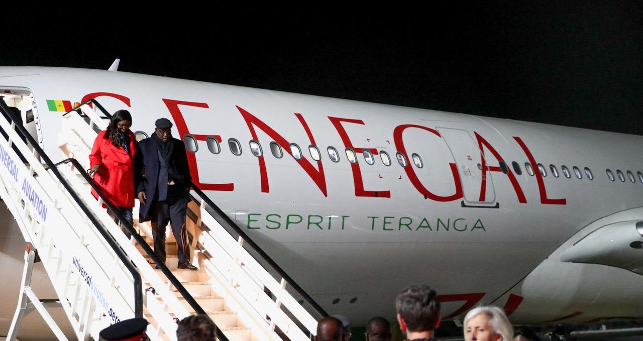 Arrivée à Londres du Président Macky Sall