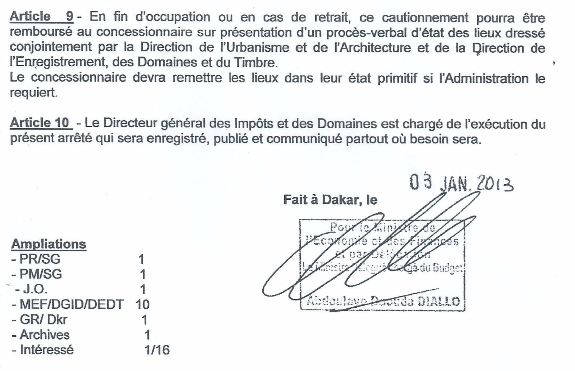Occupation illégale du site de Terrou Bi : Kalil RAHAL réclame un bail et menace... ( Document )