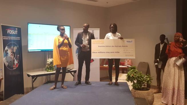 Trois chèques de 5 millions partagés par le 3 vainqueurs de la journée des START-UPS avec la FDSUT