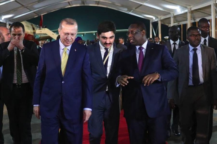 Le président Erdogan est arrivé à Dakar