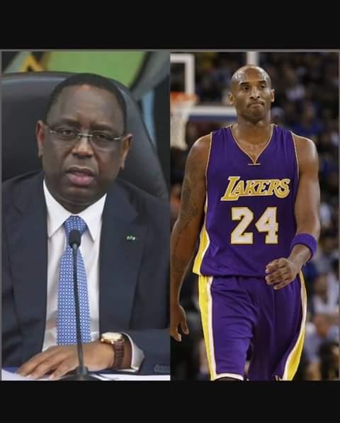 """Macky Sall : """"le monde entier a perdu un grand homme avec la disparition de Kobe Bryant"""""""