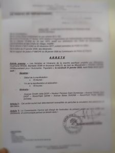 Urgent: La marche du Collectif « Noo Lank » autorisée