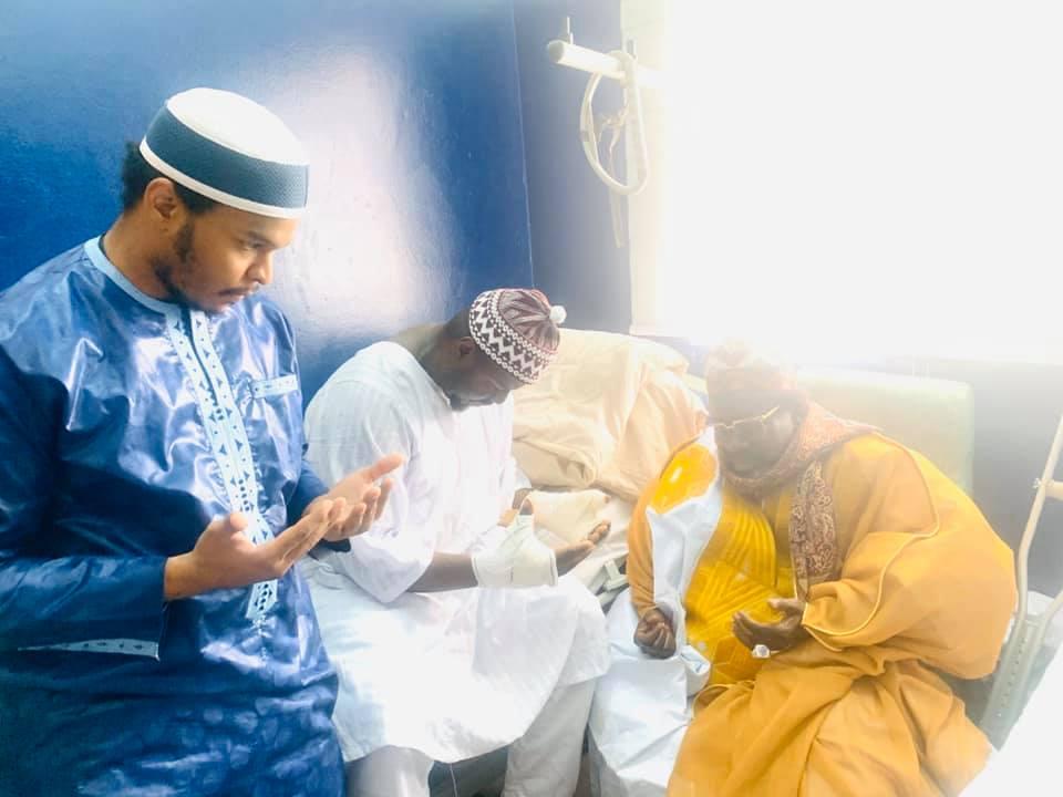PHOTOS - Imam Cheikh Tidiane Aliou Cissé au chevet d'Abdou Aziz Américain