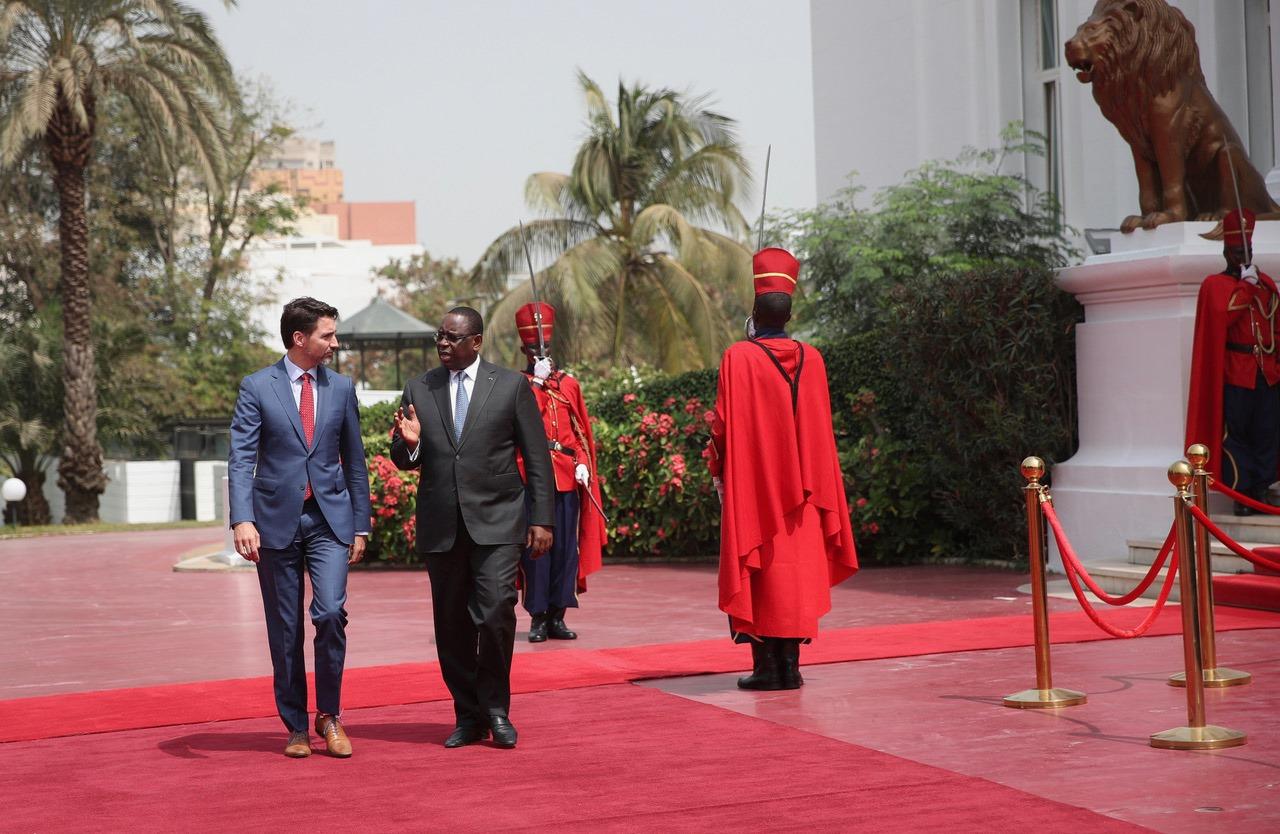PHOTOS-les étapes de la rencontre entre Macky Sall et Justin Trudeau au Palais