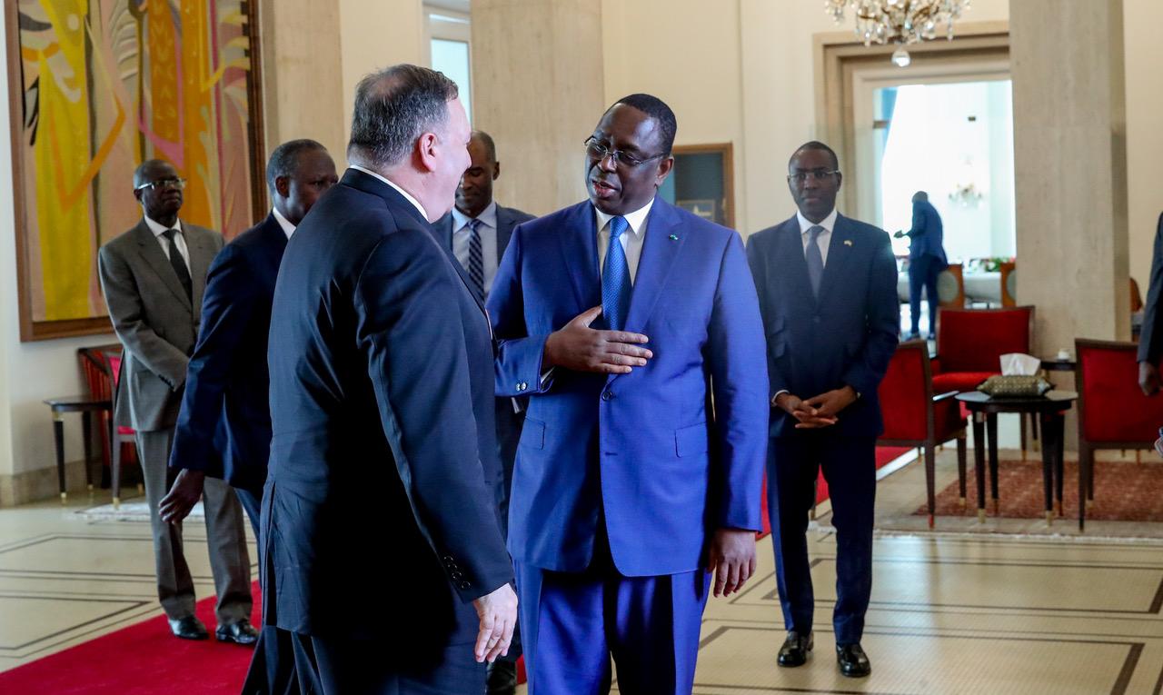 """Visite de Michael Pompeo à Dakar: Le Sénégal, un """"allié fidèle et stratégique"""" des Etats-Unis en Afrique"""