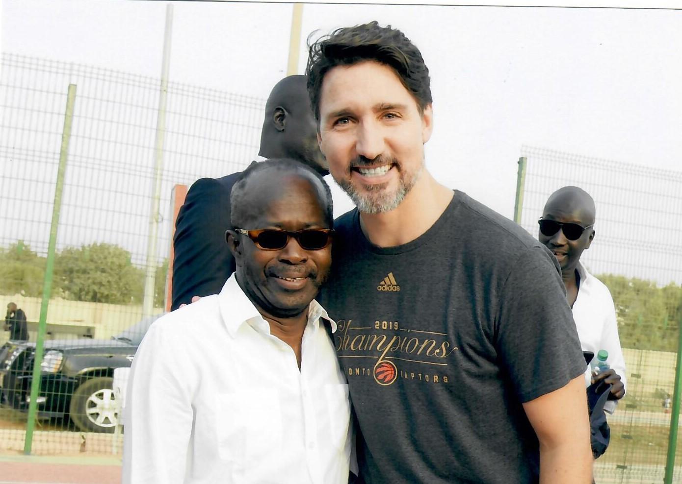 PHOTOS - Belle complicité entre Diagna Ndiaye, président du CNOSS et le Premier ministre canadien Justin Trudeau