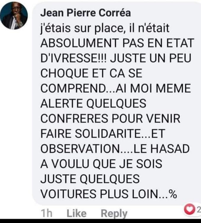 """""""Pape Alé Niang n'était pas ivre !"""""""