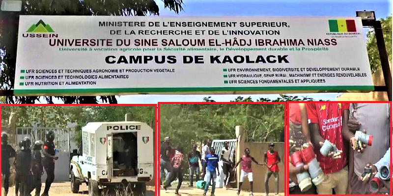 KAOLACK - Les étudiants de l'Université du Sine Saloum décrètent une grève illimitée et menacent de... (VIDEO)
