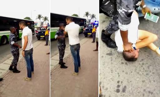 Côte d'Ivoire: le Tunisien 'gifleur' de policier, sévèrement corrigé