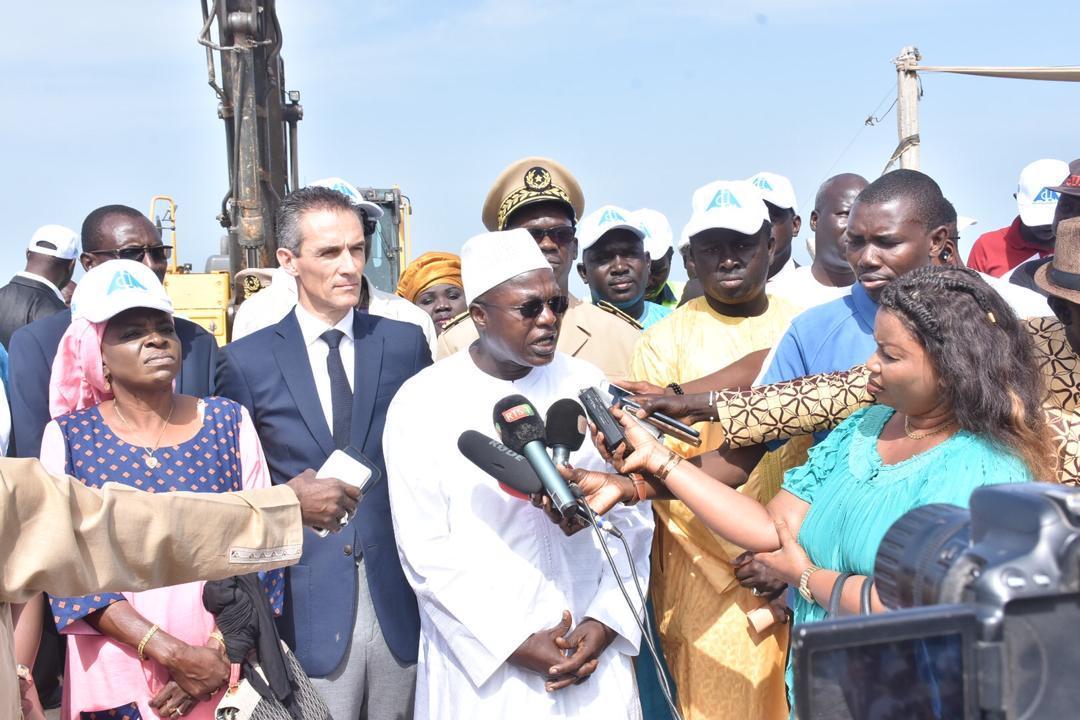 Projet de construction d'une digue de protection pour la population de la Langue de Barbarie : l'Etat tient sa promesse.