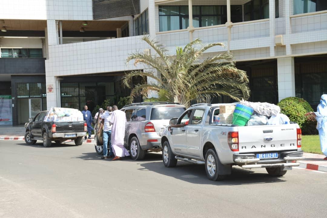 Lutte contre le coronavirus: Ibrahima Sall du parti Model, apporte son soutien au Ministère de la Santé (Images)