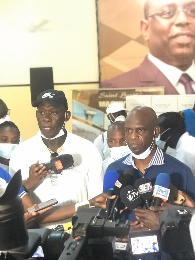 (PHOTOS)- Riposte contre le Covid-19 à Saint-Louis: Mansour Faye a reçu un don d'une valeur de 25 millions de FCfa de Baba Tandian, président de SLBC