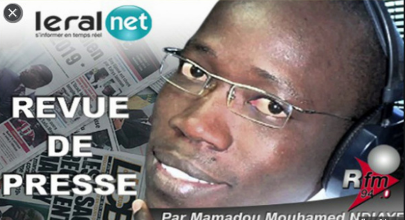 Revue de presse Rfm du Lundi 06 avril 2020 avec Mamadou Mouhamed Ndiaye