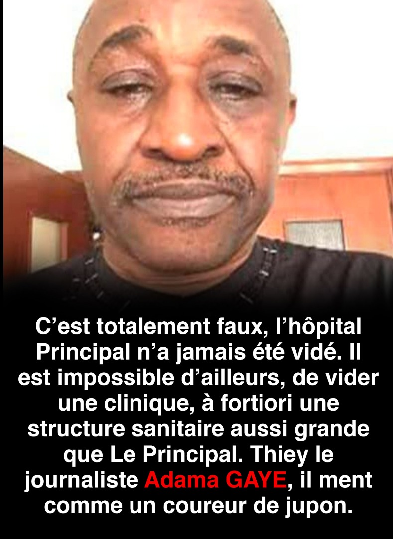 Adama Gaye, une unité de production de fake news!