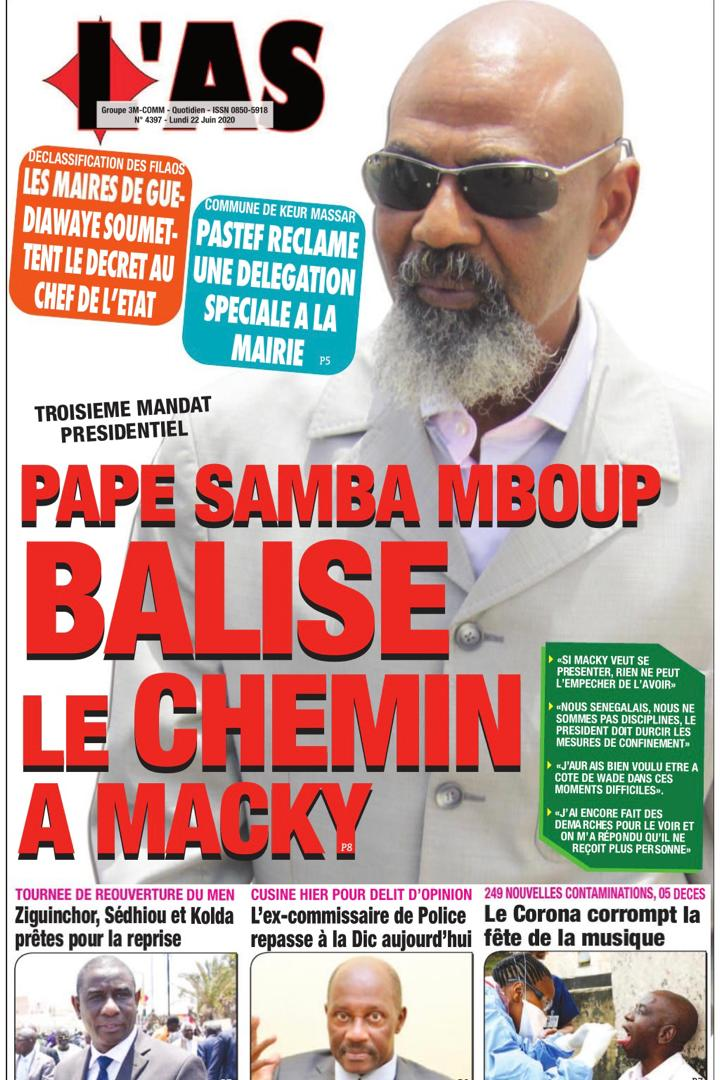 Troisième mandat - Pape Samba Mboup balise le chemin à Macky Sall