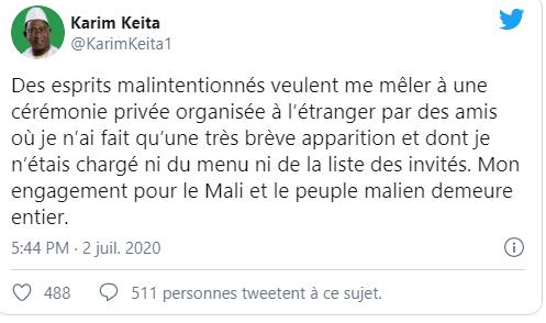 Mali: des vidéos privées du fils du président IBK créent la controverse