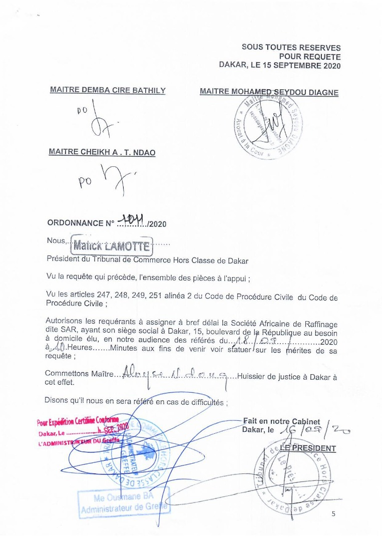 """""""Coup d'état avorté à la SAR """": La réunion du Conseil de la SAR bloqué par la sécurité rapprochée de Khadim ba"""