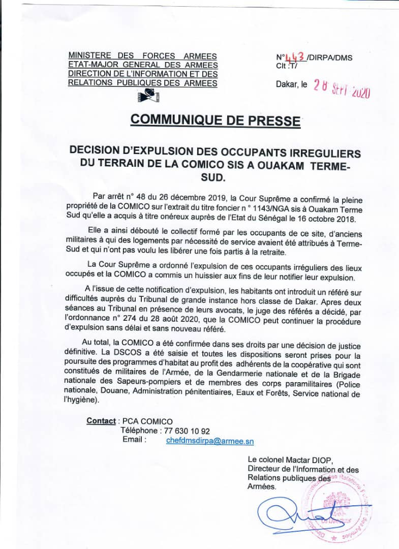 Le tribunal des référés autorise la poursuite des travaux à la Cité Comico: la décision d'expulsion des occupants irréguliers est tombée