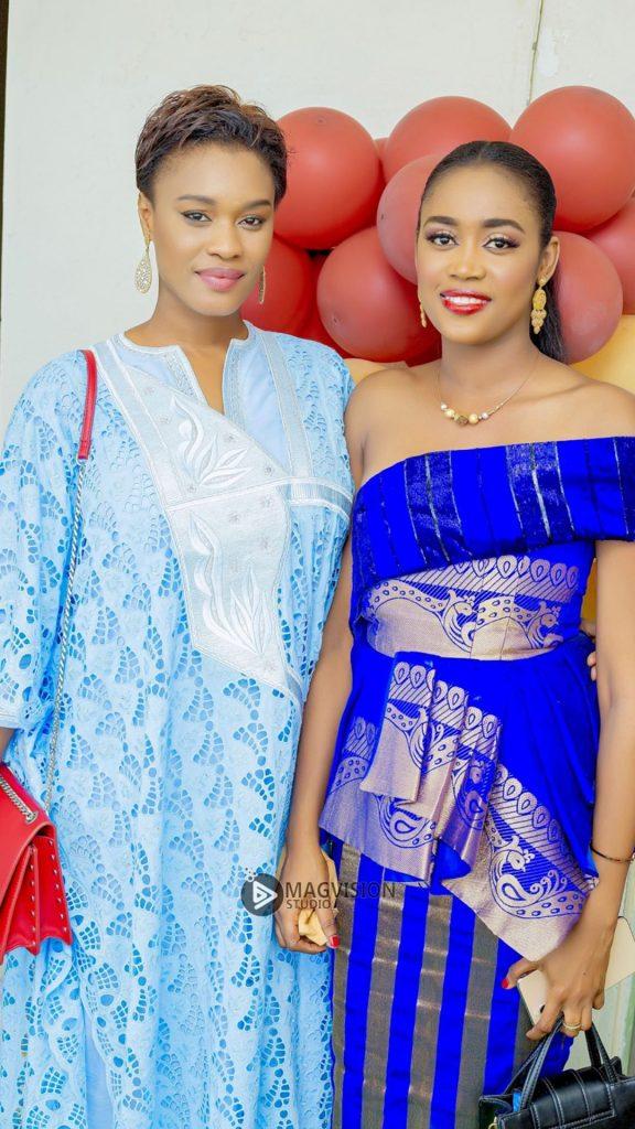 Ndèye Ndack et Caty Chimère en toute complicité avec Yaye Pouye, épouse de Serigne Abdou Karim Mbacké