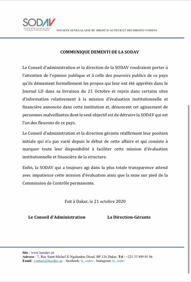 Affaire Macky Sall, Youssou Ndour et l'audit de la Sodav: Le démenti de Ngoné Ndour