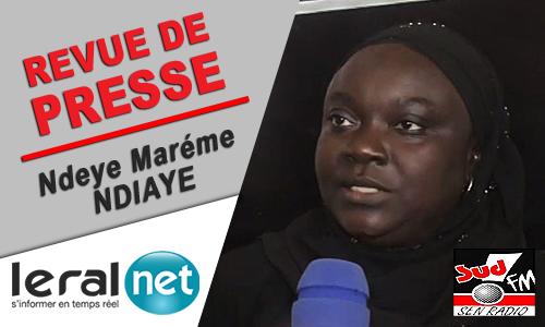 Revue de presse de Sud Fm du Lundi 9 Novembre 2020 avec Ndèye Marième Ndiaye