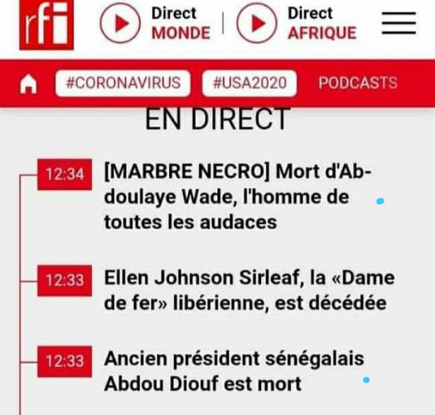 Nécrologies de célébrités toujours en vie: RFI s'excuse et évoque des soucis techniques