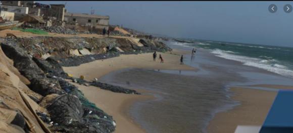 L'érosion côtière affecte les écoles de Golf Sud