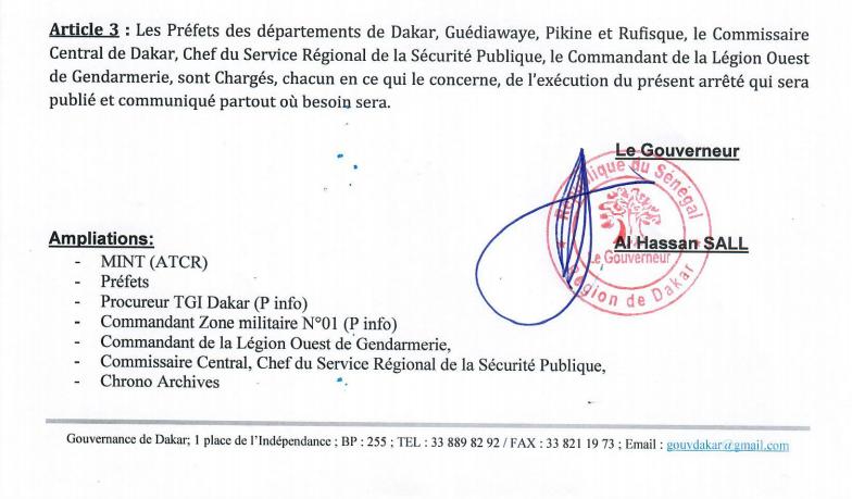 Suspension des autorisations exceptionnelles d'ouverture des débits de boissons: Le Gouverneur de Dakar sort un arrêté