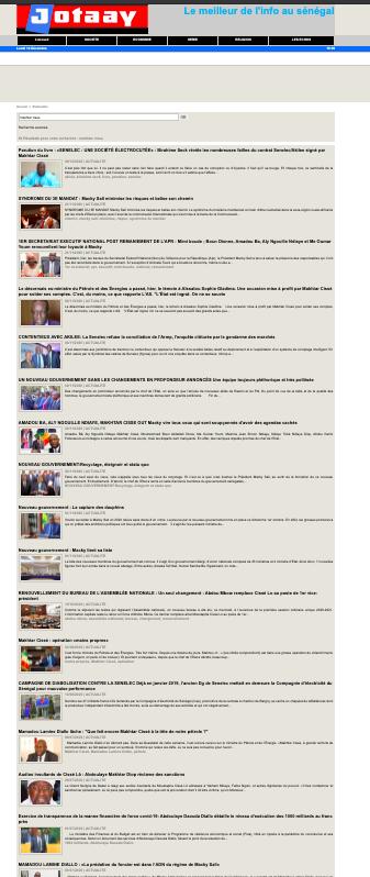 Voici la liste des 63 articles