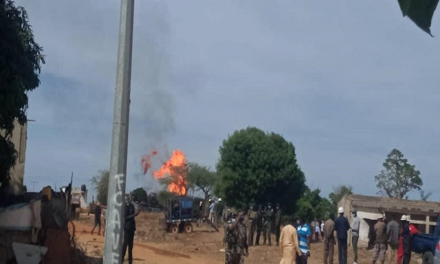 Incendie suite à une explosion de gaz : A Notto Gouye Diama, les populations de Ngadiaga très agitées depuis hier