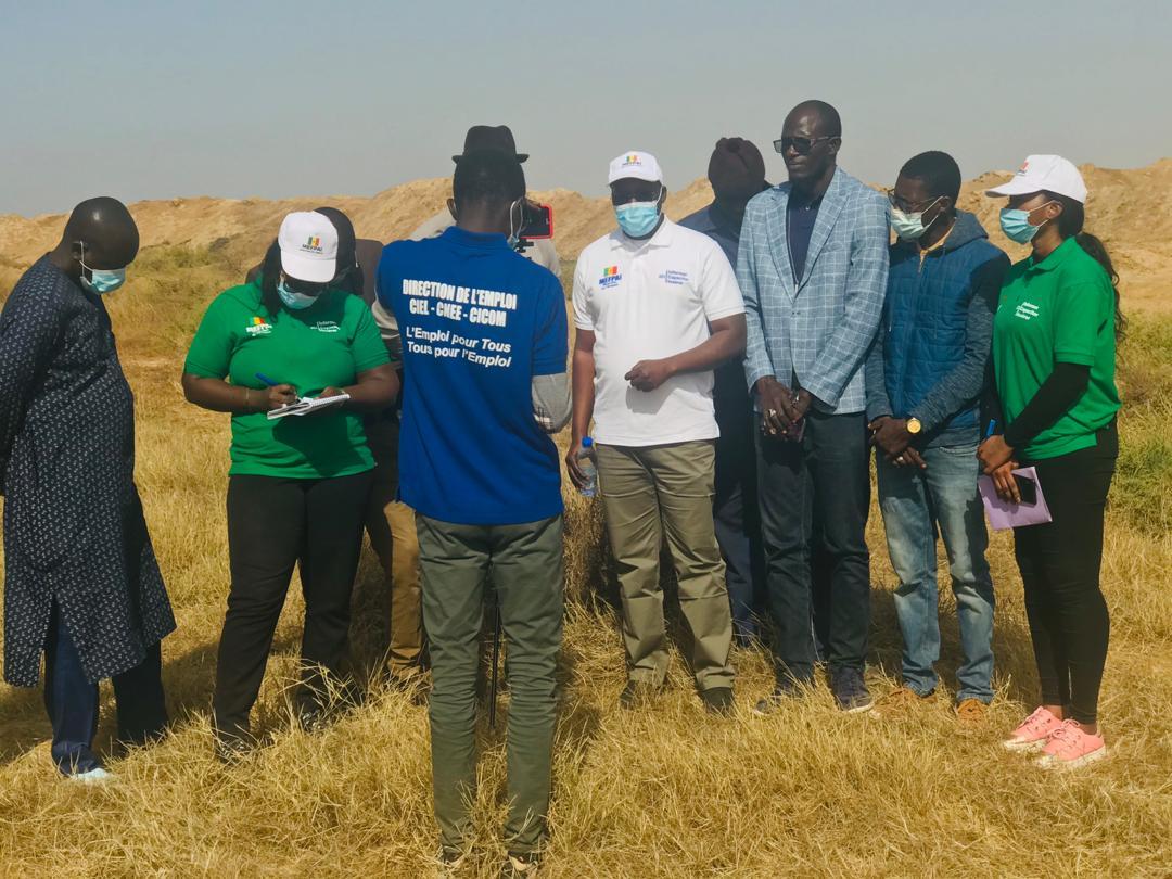 Projet agricole: Le Directeur de l'Emploi en visite à Ross Bethio.